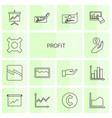 14 profit icons vector image vector image