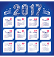 2017 stylized calendar vector image vector image