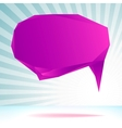 Abstract origami speech bubble template EPS8 vector image vector image