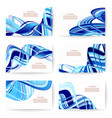 abstract various business card template or vector image vector image