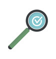 approved search icon flat style