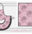 Apron With Pink Floral Pattern vector image vector image
