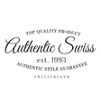Authentic swiss product stamp vector image vector image