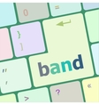 band word on computer pc keyboard key vector image vector image