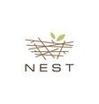 bird nest logo icon vector image vector image