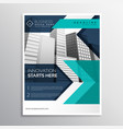 business brochure template design in blue color vector image vector image