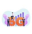 business people use 5g in various activities vector image vector image