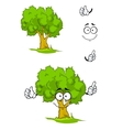Cartoon tree with attention sign vector image vector image