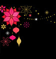 christmas banner with snowflakes and decorations vector image vector image