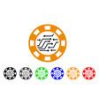 circuit casino chip icon vector image vector image