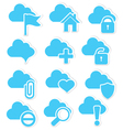 Cloud icon set web vector image