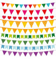 Colorful bunting flags set vector image vector image