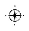 compass icon black isolated flat symbol vector image vector image