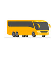 corner view bus on road vector image vector image