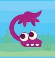 cute plesiosaur swimming dinosaur life vector image vector image
