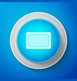 doormat icon isolated on blue background welcome vector image vector image