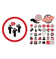 Euro Discuss Persons Flat Icon with Bonus vector image vector image
