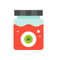eye ball in blood jar halloween related icon flat vector image
