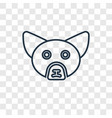 fennec fox concept linear icon isolated on vector image