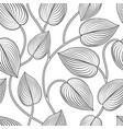 floral seamless pattern leaves background vector image vector image