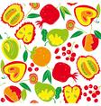 food vintage wallpaper vector image vector image