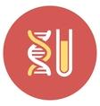 Genetic Analysis Flat Round Icon vector image