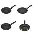 griddle icon set isometric style vector image