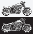 Hand Inked Motorcycle vector image vector image
