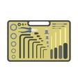 Hand tools set flat design vector image