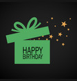 happy birthday box and stars vector image vector image