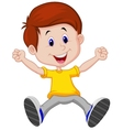 Happy boy cartoon vector image vector image