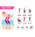heat stroke symptoms sunshock protection vector image vector image