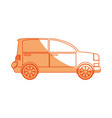 isolated coupe car vector image vector image