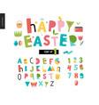 kids flat alphabet set vector image vector image