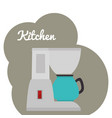 kitchen coffee maker utensil icon vector image vector image