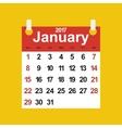 Leaf calendar 2017 vector image vector image