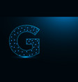 letter g low poly design alphabet abstract vector image vector image