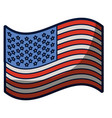 light colours silhouette of waving flag of the vector image vector image