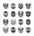 Lucha libre luchador Mexican wrestling black mask vector image vector image