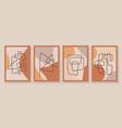 modern abstract art organic set vector image