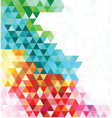 Multicolored mosaic background vector image vector image