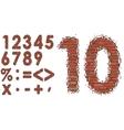 Numbers of bricks vector image