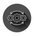 operation project icon in flat style gear process vector image