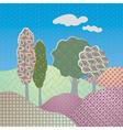 Paisley landscape vector image vector image