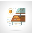 Pier cafe flat color icon vector image