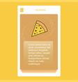 pizza mobile vertical banner design design vector image