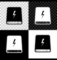 power bank icon isolated on black white and vector image vector image