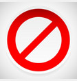 prohibition deny sign vector image vector image