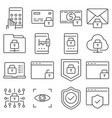 protection and security line icons set vector image