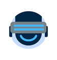 robot face icon smiling face wearing digital vector image vector image